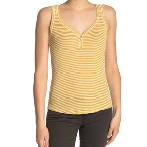 Lucky yellow striped sleeveless top. NWT
